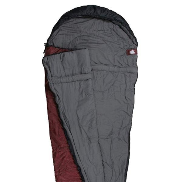 10T Schlafsack Arctic Sun 230x85 Rot -16° 1700g leicht Mumienschlafsack - rot schwarz