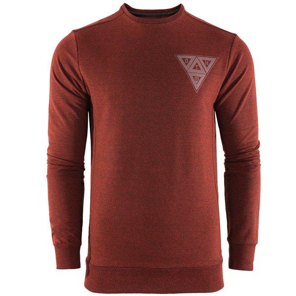 Triangle Cuff Comfy - Herren Komfort Pullover - dunkelrot melange