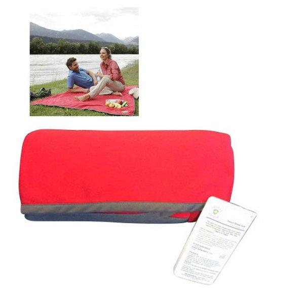 Maul - Decke Picknick Insect Shield mit Zeckenschutz - 1,5mx1,5m -rot