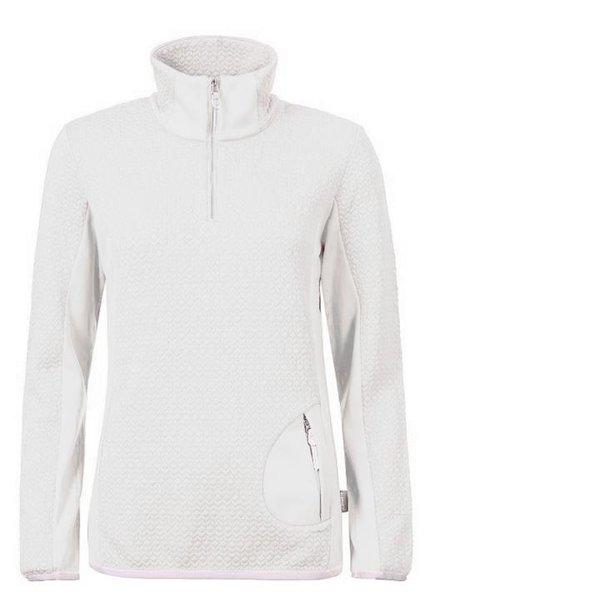 ICEPEAK - Damen Unterzieher Fleecejacke Fleece Zip Pullover 2nd Layer - weiß