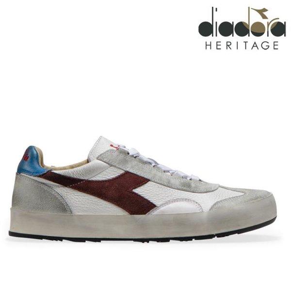 Diadora - B.ORIGINAL H Leather dirty Schuhe Sneaker, weiß bordeaux