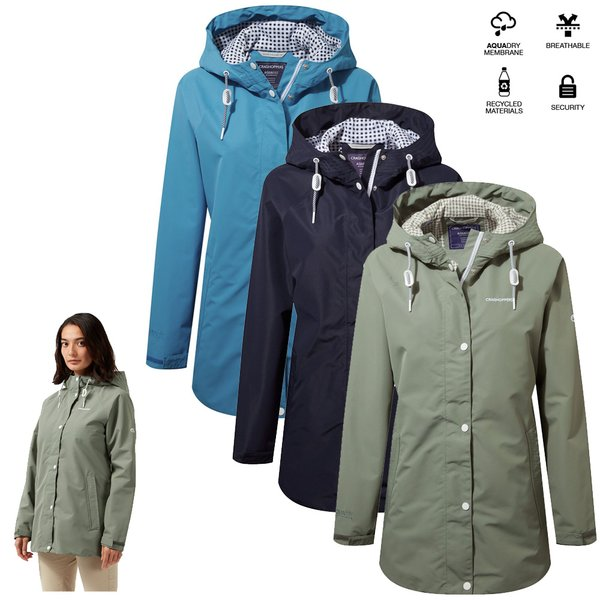 Craghoppers - wasserdichte Regen - Outdoor - Wanderjacke Minden - Aqua Dry Membrane - Damen