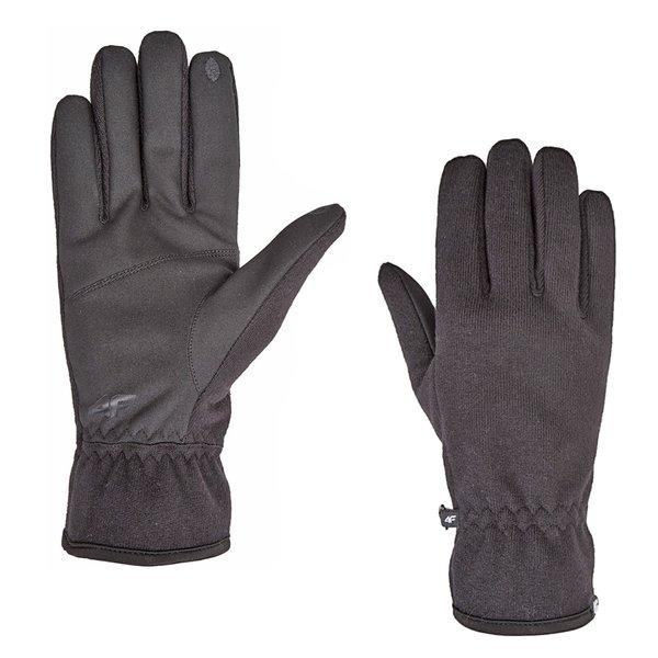 4F - Strickhandschuhe mit Smartphonefinger - schwarz