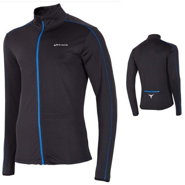 Everhill - Herren Jogging Sportjacke Longshirt - blau schwarz