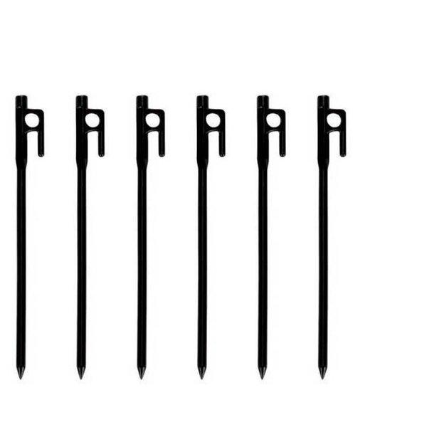 VAUDE Cast Iron Pin 6 Units Zelt Heringe - 20cm, 6 Stück