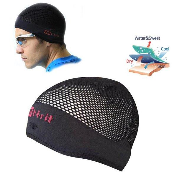 N-rit - Cool Inner Cap - Sportmütze Unterzieher mit Tasche - schwarz
