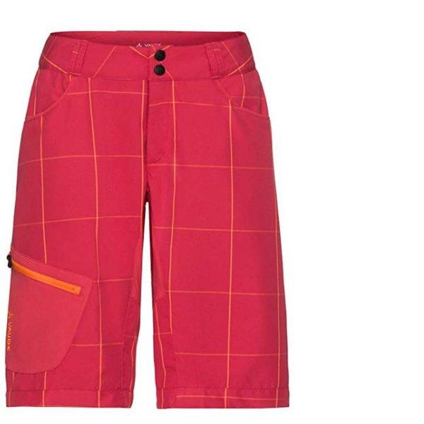 Vaude Damen Rad Shorts kurze Hosen Radhose mit Polster - strawberry - 36 XS/S