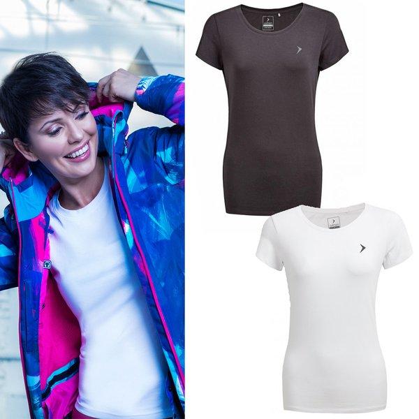 Outhorn - Baumwoll-Basic - Damen T-Shirt - schwarz