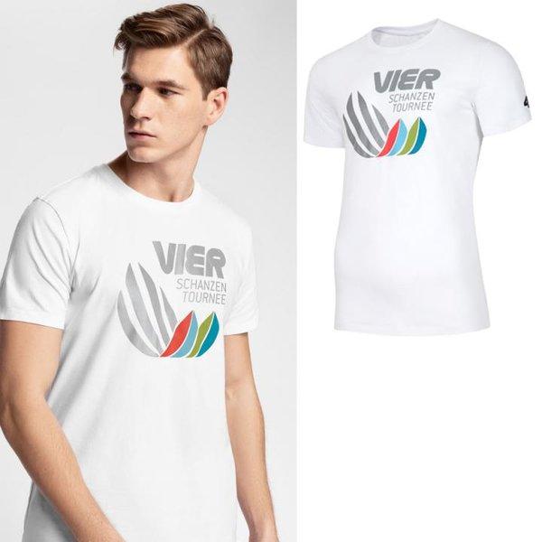 4F - Vier Schanzen Tournee - Herren T-Shirt - weiß