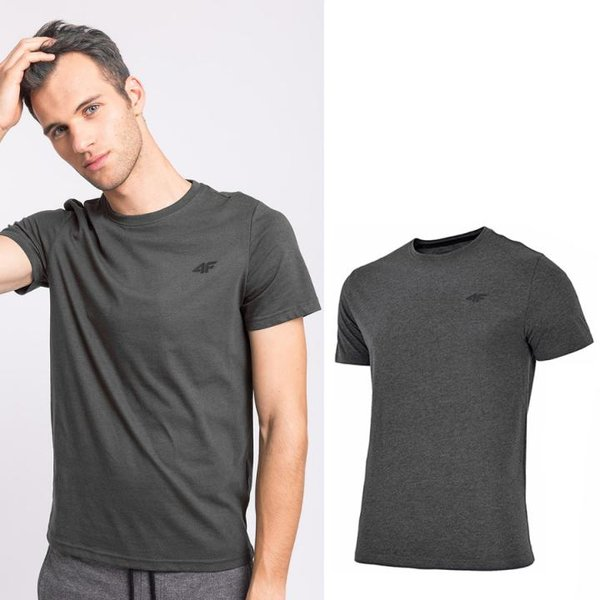 4F - Baumwollshirt - Herren T-Shirt - dunkelgrau