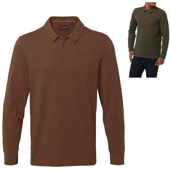 Craghoppers - Bryson Collr LS langarm Hemd, rot