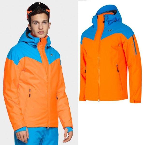 4F - Dermizax® 20 000- Herren Skijacke Primaloft neonorange/blau