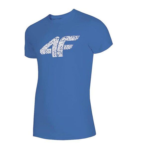 4F - Logo Baumwollshirt - Herren T-Shirt - blau