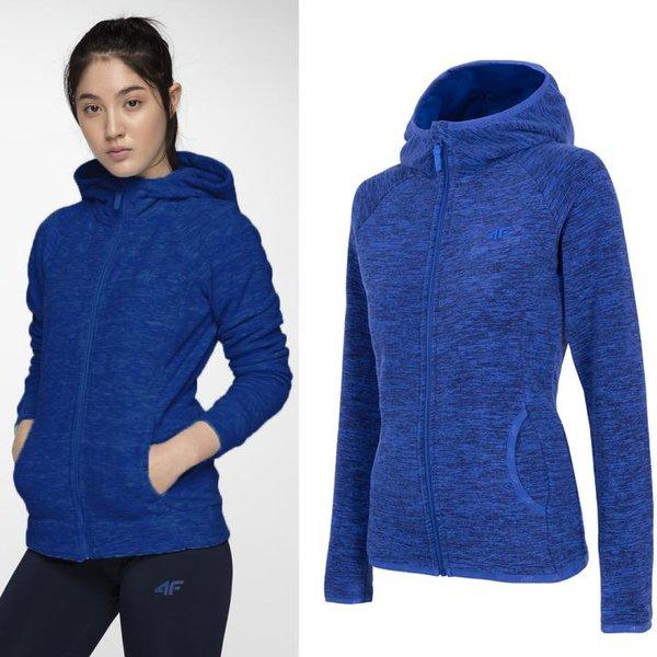 4F - Damen Fleecejacke - blau melange