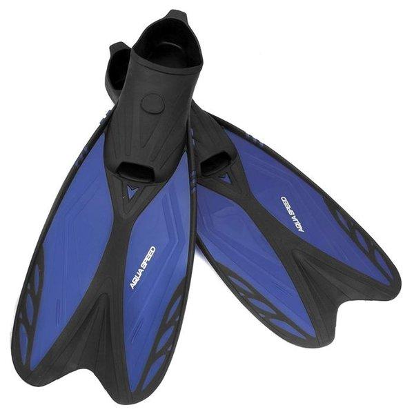 AQUA-SPEED - Flossen Taucherflossen für Erwachsene - Leicht und Stabil - mit Tasche - blau