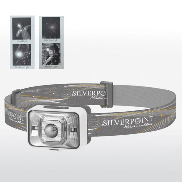 SILVERPOINT - Stirnlampe Helmlampe Radlampe - e_flux RC260 - grau