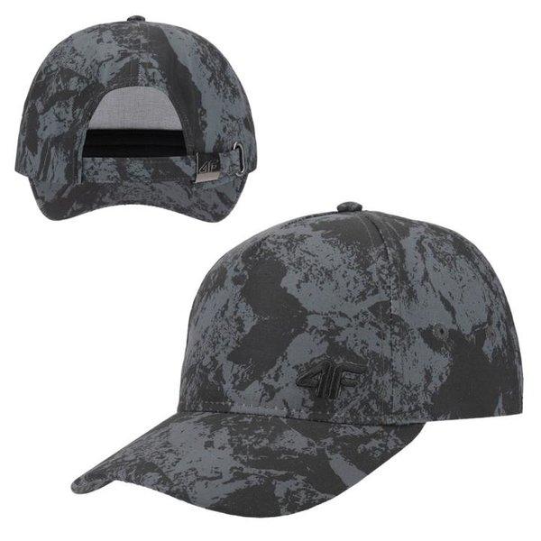 4F - Schildmütze - Cappy - schwarz gemustert