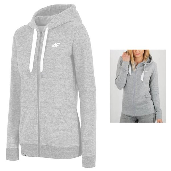 4F - Damen Sweat Sportjacke 2019 - grau