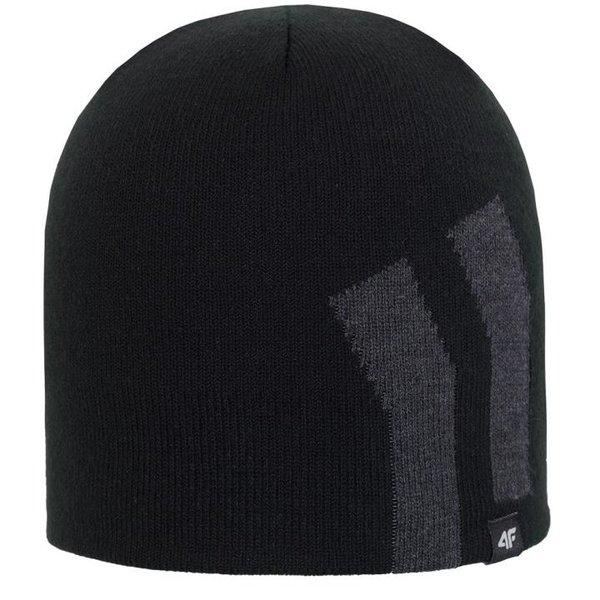 4F - Wollmütze - Winter Mütze STYLE - schwarz