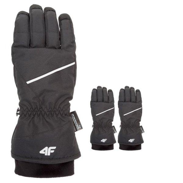 4F - Thinsulate Skihandschuhe- weiß/schwarz