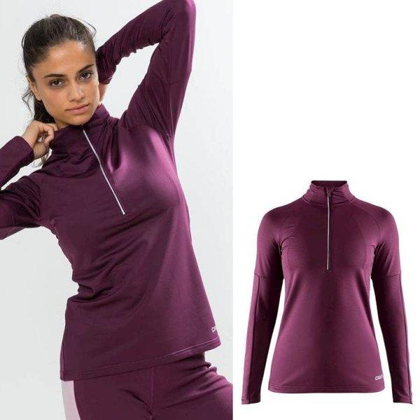 Craft - Prep Half Zip - Damen Langarmshirt - bordeaux