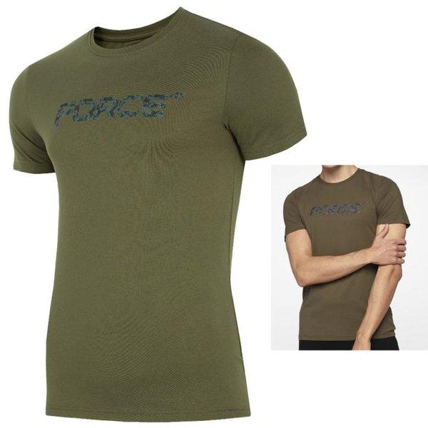 4F - FORCE 2019 - Herren T-Shirt Shirt - khaki dunkelgrün