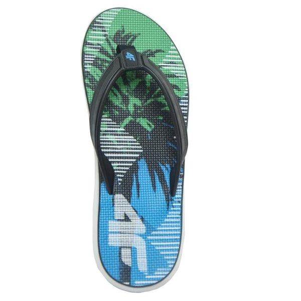4F - Flip Flops - Herren Zehentrenner - grün blau