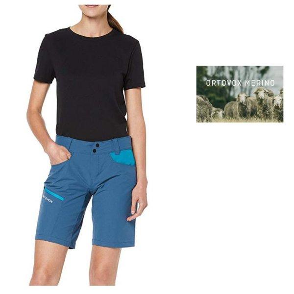 Ortovox Damen PELMO Shorts kurze Hose Outdoorhose, blau