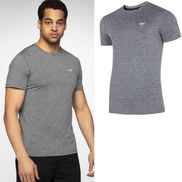 4F - Herren Sport T-Shirt - grau melange