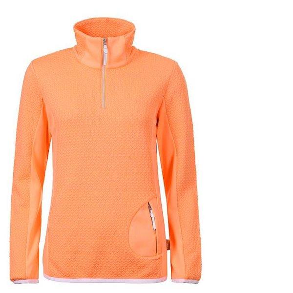 ICEPEAK - Damen Unterzieher Fleecejacke Fleece Zip Pullover 2nd Layer - neon orange