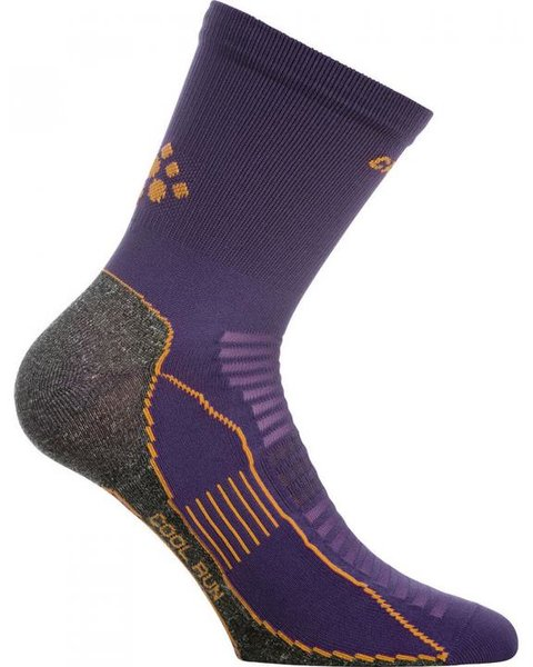 Craft - Cool Run Sock Dynasty Sportsocken Trail Sock - lila orange