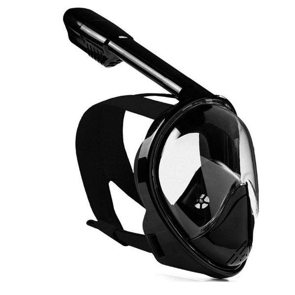 Free Breath Intelegend 135 Original Full Face Snorkeling Taucherbrille, Schwarz