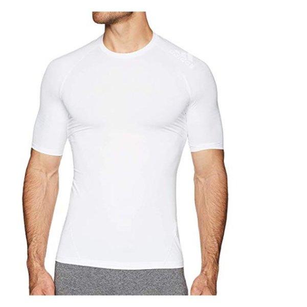 Adidas - Alphaskin Herren T-Shirt Sportshirt - weiß