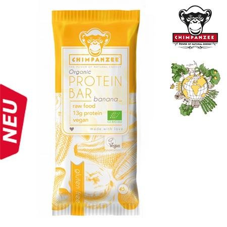 Chimpanzee - Protein Energy Bar Vegan (55 gr.) - glutenfrei - BANANA