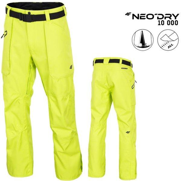 NeoDry 10 000 - Herren Skihose Winterhose - neon grün