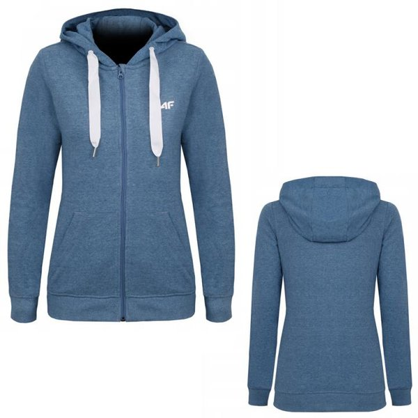 4F - Damen Sweat Sportjacke - blau