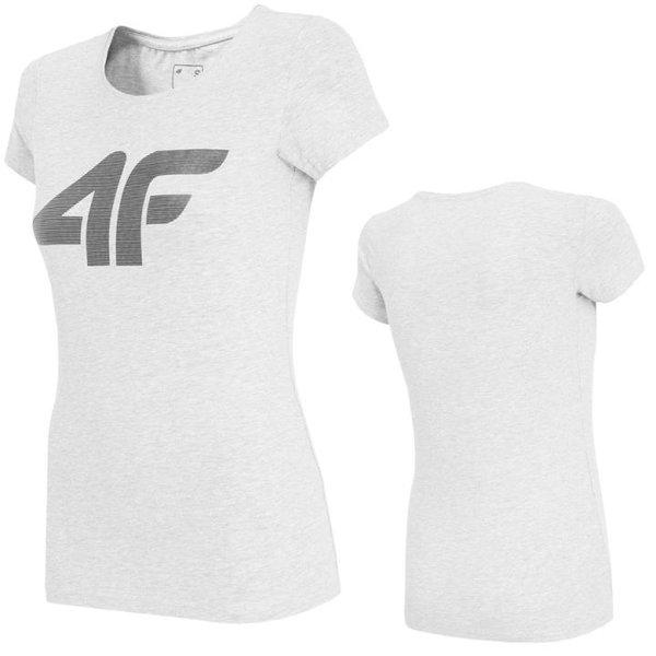4F- Logo T-Shirt - Damen - grau