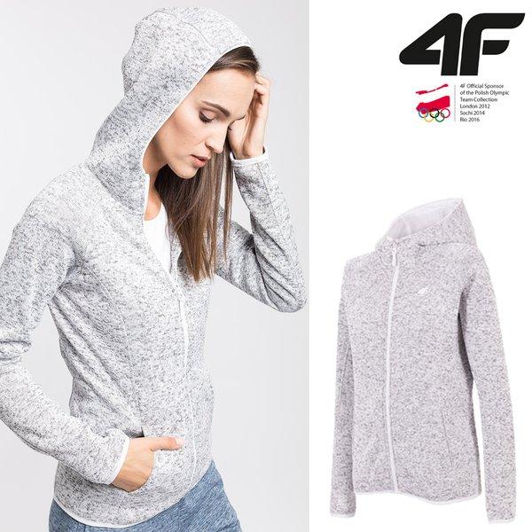 4F - Damen Strick-Fleece Jacke
