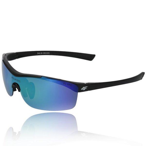 4F - Sportbrille Sonnenbrille Bike Brille - polarisierende REVO Gläser UV 400 - schwarz
