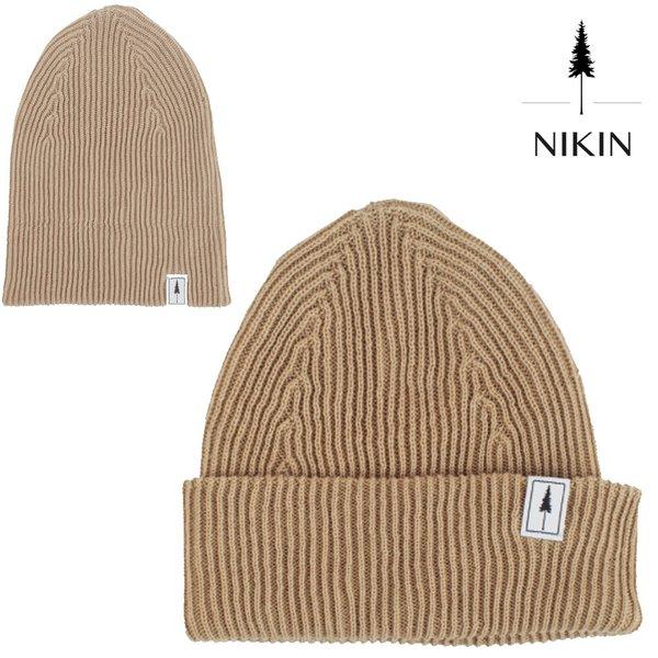 NIKIN - Folded Polylana® Ripped Strick Mütze, beige