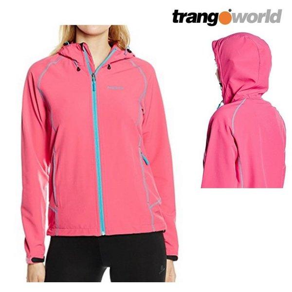 Trango World - technische Shelljacke - Sportjacke mit Kapuze - pink - M 38