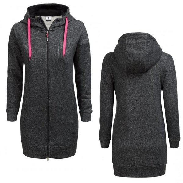 Outhorn - Comfy long hoodie - Damen Sweatmantel - schwarz melange