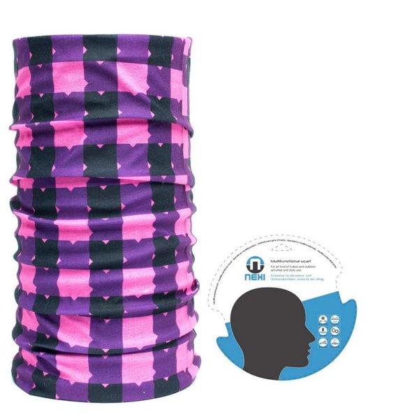 Nexi - Multifunktions Tuch Schal Kopftuch - pink lila