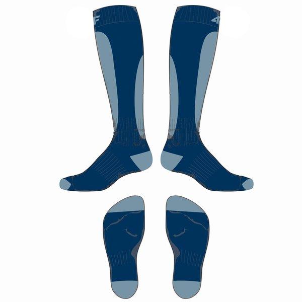 4F - Ski Socken - Unisex Ski- und Snowboardsocken - navy