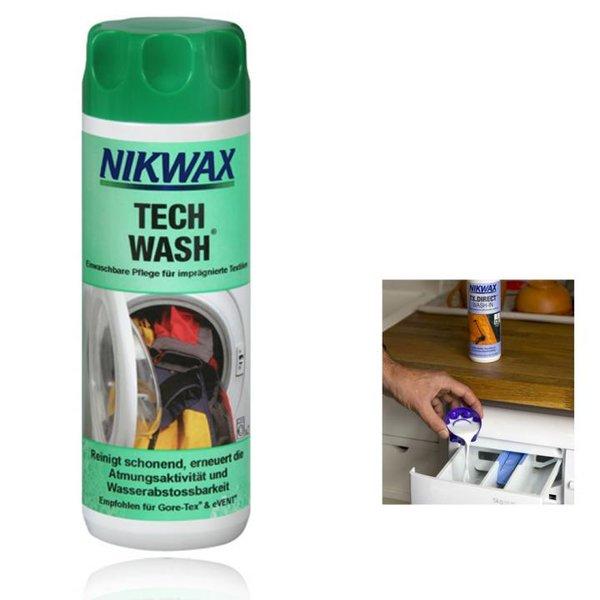 NIKWAX - TECH WASH Spezial-Reinigungsmittel für imprägnierte Bekleidung Sportbekleidung - 300ml