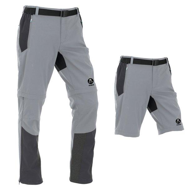 Maul - Eiger II - Herren Zip-Off Wanderhose 2019 Shorts mit Gürtel - schwarz grau