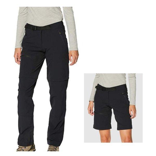 Vaude Damen Badile Zo Pants Hose Outdoorhose Softshell - schwarz - 38 S/M