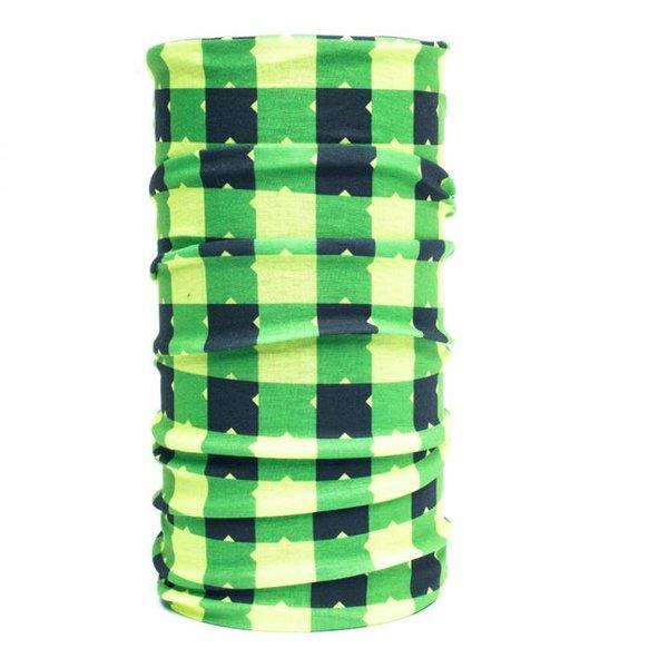 Nexi - Multifunktions Tuch Schal Kopftuch - grün gelb