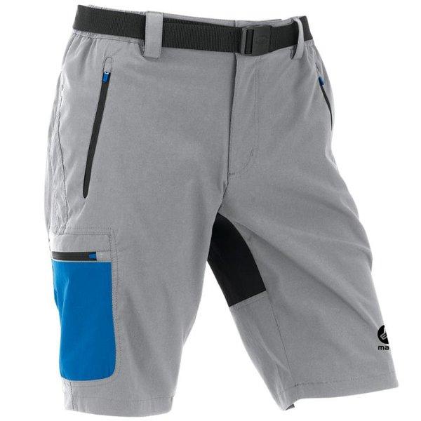 Maul - Doldenhorn II - Herren kurze Hosen Wanderhose 2019 Shorts mit Gürtel - schwarz grau
