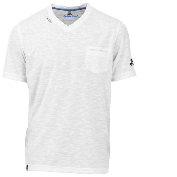 Maul - modisches Funktions-T-Shirt mit Brusttasche Ravensburg - weiß